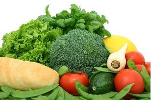 forskellige grøntsager samlet